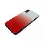 Задняя крышка Samsung J600F Galaxy J6 2018 пластик с переходом без лого, силиконовые борты, красная