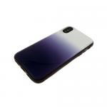 Задняя крышка Samsung J600F Galaxy J6 2018 пластик с переходом без лого, силиконовые борты, синяя
