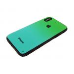 Задняя крышка Xiaomi Redmi Note 5A пластик с переходом без лого, силиконовые борты, зеленая