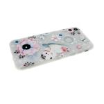 Силиконовый чехол Huawei Honor 10 Lite почтовые марки, цветы со стразами, розовые с птичкой