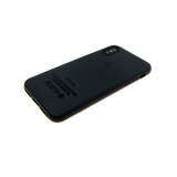Силиконовый чехол Huawei P SMART Z под телячью кожу с логотипом, черный