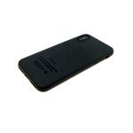 Силиконовый чехол Samsung Galaxy A40 под телячью кожу с логотипом, черный
