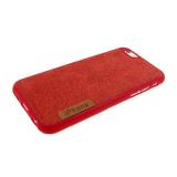Силиконовый чехол Huawei Honor 7A/ Y5 Prime под джинсу с логотипом, красный