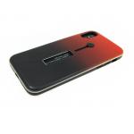 Задняя крышка Iphone 5/5S противоударная с хлястиком, двухцветная красно-черная