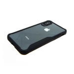 Задняя крышка Samsung J600F Galaxy J6 2018 прозрачная с силиконовым бампером, черный