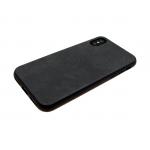 силиконовый чехол Samsung A605G Galaxy A6+ (2018) с кожей, черный
