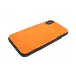 силиконовый чехол Huawei Honor 9 Lite 2017 с кожей, оранжевый