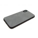 силиконовый чехол Xiaomi Redmi 4a с кожей, серый