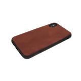 силиконовый чехол Samsung J600F Galaxy J6 2018 с кожей, темно-коричневый