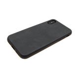 силиконовый чехол Xiaomi Redmi 4a с кожей, темно-серый