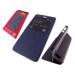 Чехол-книжка Flip Cover Huawei Honor 8 Lite с окном и подставкой, темно-синий