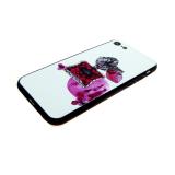 Задняя крышка Xiaomi Redmi 6a с силиконовой окантовкой., флакон красных духов
