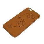 Силиконовый чехол IPhone 5/5S со Следами коричневый