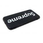 Задняя крышка Iphone X (10) стеклянная с черным силиконовым бортом, Sup