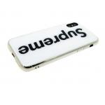Задняя крышка Iphone X (10) стеклянная с серебристым силиконовым бортом, Sup