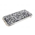 Силиконовый чехол Iphone 6/6S стекляшки с бусинками, серебро