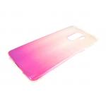 Силиконовый чехол Huawei Honor 7C PC+Tpu хамелеон, розовый
