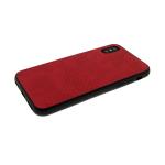 Силиконовый чехол Samsung A750F Galaxy A7 2018 эко кожа с перфорацией 50%, красный