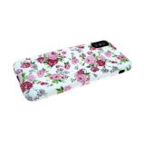 Силиконовый чехол Xiaomi Redmi Note 6 Pro фосфорный, флора, розы на белом фоне
