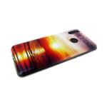 Силиконовый чехол Huawei Honor 8C фото-обои, вечернее солнце отражается полосой в море