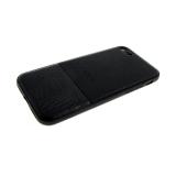 Силиконовый чехол Xiaomi Redmi 4a комбинированная кожа с брендом, черный