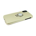 Задняя крышка Iphone 7 Plus/8 Plus матовый металлик с кольцом, золотая