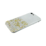 Силиконовый чехол Huawei P10 Lite мелкие и крупные блестки, белый