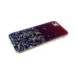 Силиконовый чехол Huawei Mate 20 Pro мелкие и крупные блестки, фиолетовый
