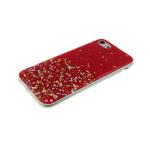 Силиконовый чехол Samsung G532F Galaxy J2 Prime мелкие и крупные блестки, красный