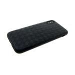 Силиконовый чехол Huawei Honor 9 Lite  плетеная кожа, глянцевый, черный