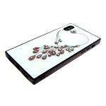 Задняя крышка Iphone 7 Plus/8 Plus прямоугольный хамелеон со стразами, сердце
