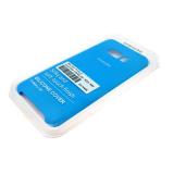 Силиконовый чехол Samsung A600 Galaxy A6 (2018) Silicone Cover Silky and Soft-touch finish, голубой