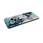 Силиконовый чехол Samsung A750F Galaxy A7 2018 стразы, блестки, мелкие голубо-белые цветы