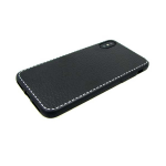 Чехол для Huawei P SMART текстурный c белым пунктиром, черный