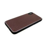 Задняя крышка Huawei P SMART текстурный c белым пунктиром, коричневый