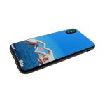 Силиконовый чехол Samsung A600 Galaxy A6 (2018) виниловая картинка, море с розовым сердцем