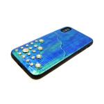 Задняя крышка Iphone 7/8 волнистая с кармашком, бирюзовая