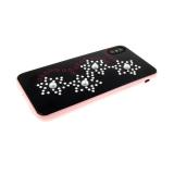 Задняя крышка Iphone 7/8 жемчуг, звезды из страз, черная