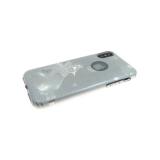 Силиконовый чехол Samsung A720F Galaxy A7 2017 Блестки с зеркальными звездами, серебро