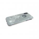 Силиконовый чехол Samsung A730 Galaxy A8+ 2018 Блестки с зеркальными звездами, серый