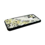 Задняя крышка Huawei Honor 10 Lite черные кружева, брошка-цветок, желтая с бабочкой