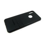 Силиконовый чехол Samsung A70 эко-кожа Rich Boss, черный