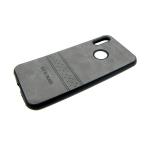 Силиконовый чехол Samsung A70 эко-кожа Rich Boss, серый