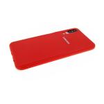 Силиконовый чехол Samsung G8870 Galaxy A8s глянц с ребристыми вставками на бампере, красный