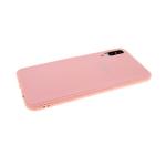 Силиконовый чехол Samsung G8870 Galaxy A8s глянц с ребристыми вставками на бампере, розовый