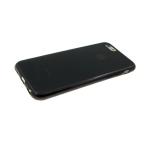Силиконовый чехол Samsung A810 Galaxy A8s 2019 глянцевый, логотип в цвет бампера, черный