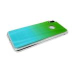 Силиконовый чехол Huawei P SMART 2019 хамелеон с переходом, прозрачный борт, бирюзово-зеленый