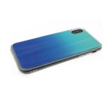 Силиконовый чехол Huawei P SMART 2019 хамелеон с переходом, прозрачный борт, сине-бирюзовый