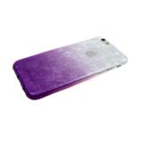 Силиконовый чехол Samsung A70 мраморный рисунок, двухцветный, бело-фиолетовый