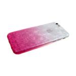 Силиконовый чехол Samsung A70 мраморный рисунок, двухцветный, бело-розовый